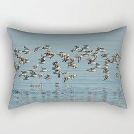 Flight of the Sanderlings Rectangular Pillow