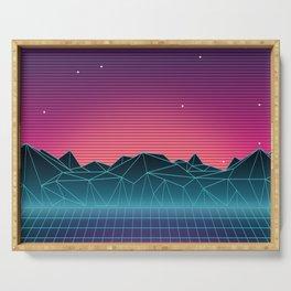 Vaporwave Landscape of the Future Serving Tray