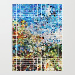 Modern Geometrical Colorful Squares - Art By Sharon Cummings Poster