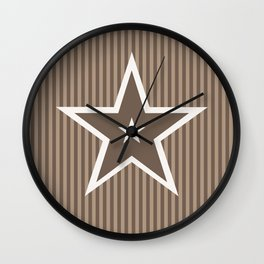 The Greatest Star! Coffee and Cream Wall Clock