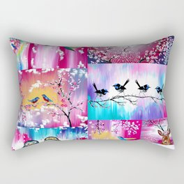 Pink collage Rectangular Pillow