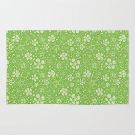 Sweet Green Floral Rug
