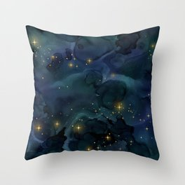 Dragon Dark Night Throw Pillow
