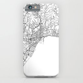 Malaga Map White iPhone Case