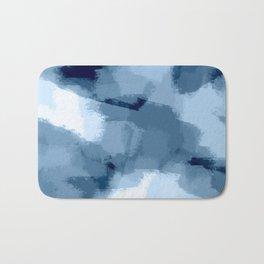 Amaya - navy blue abstract art Bath Mat