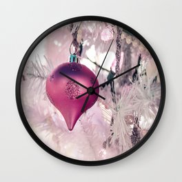 Pink Shimmery Christmas 2 Wall Clock