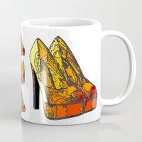 shoe Mugs featuring Shoe 3 by AstridJN