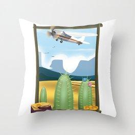 Desert and cactus Throw Pillow