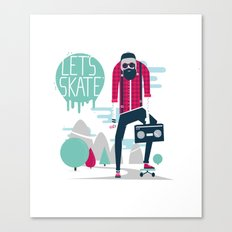 Let's skate  Canvas Print