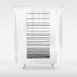 Linear Gradation - Slate Shower Curtain