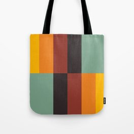 Stripes and swatches Tote Bag