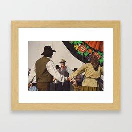 Danse de l'accordéon Framed Art Print
