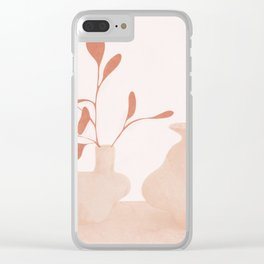 Minimal Branches and Vases Clear iPhone Case
