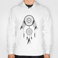dream catcher Hoodies featuring DREAM CATCHER by shannon's art space
