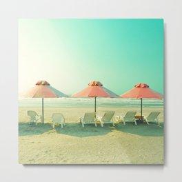 Pink Umbrellas II  Metal Print