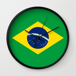 Brazilian National flag Authentic version (color & scale) Wall Clock
