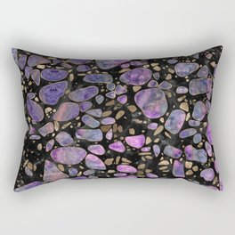 Terrazzo - Labradorite and gold on marble #1 Rectangular Pillow