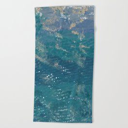 Going to the sea Beach Towel