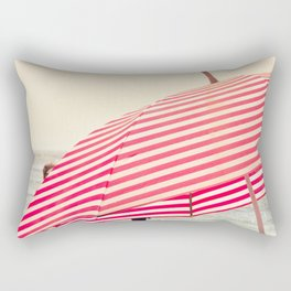 Summer Beach Umbrella Rectangular Pillow