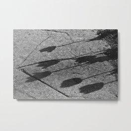 Sidewalk Tulips Metal Print