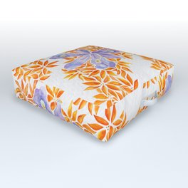 Iris and Butterfly Weeds Outdoor Floor Cushion