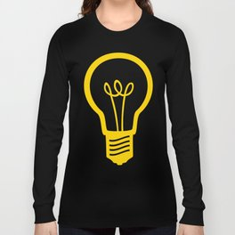 Yellow Lightbulb Long Sleeve T-shirt
