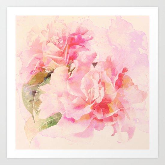 douces fleurs roses Art Print