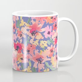 Little Peachy Poppy Garden Coffee Mug