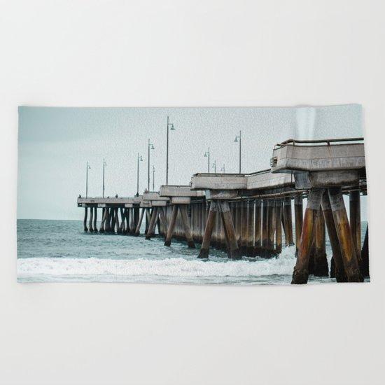 Venice Pier  Beach Towel