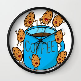 blue COFFEE mug Wall Clock