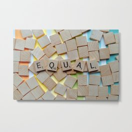 Equal (LGBTQ) Metal Print