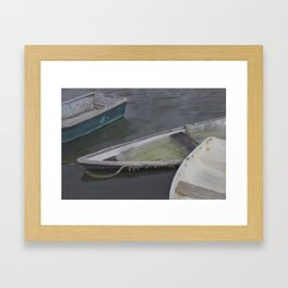 Cape Porpoise Dories Framed Art Print