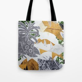 Tropical Toile Tote Bag