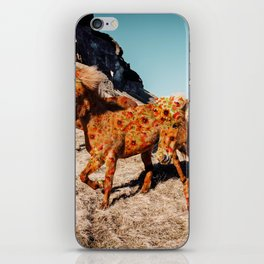 Wild Horses On Flowers iPhone Skin