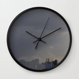 Ship Leaving Miami Wall Clock