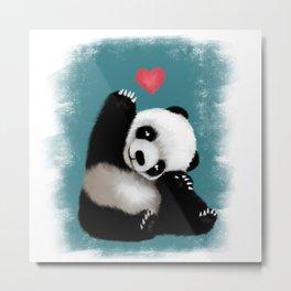 Panda Love (Color) Metal Print