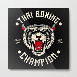 Thai Boxing Champion Tiger Martial Arts Fighter Metal Print