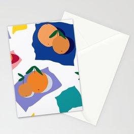 Abstract Orange Neck Gator Oranges Stationery Cards