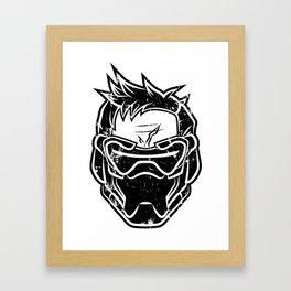 Over Watch Soldier: 76 (Black) Framed Art Print