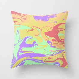 Scrambled Days Throw Pillow