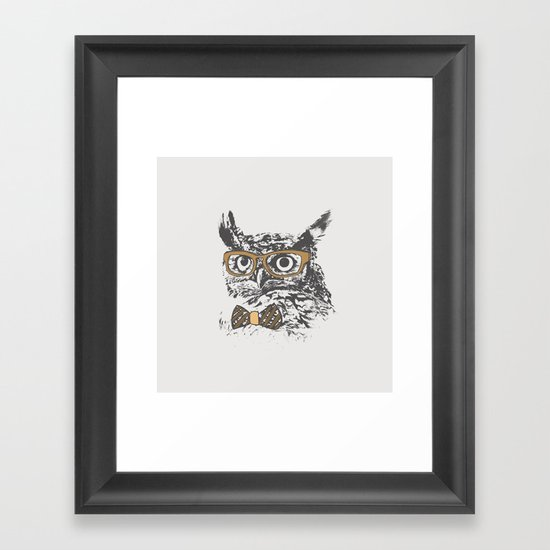 Hipsters are a Hoot Framed Art Print