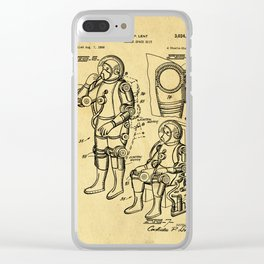 Mobile Space Suit Support Patent Drawing From 1956 Clear iPhone Case
