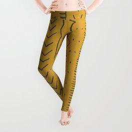 Moroccan Stripe in Mustard Yellow Leggings