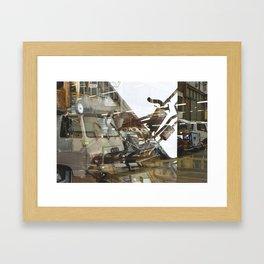 Car Emissions - overlapper Framed Art Print