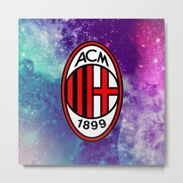 AC Milan Galaxy Edition Metal Print