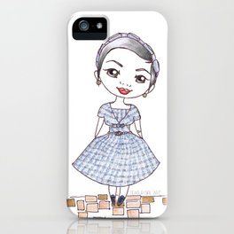 Vintage Gal ~ Nora Finds iPhone Case