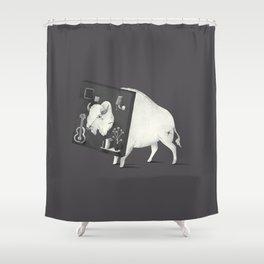 Not Amused (Dark) Shower Curtain
