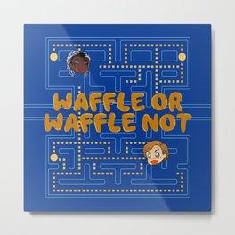 Chibi Waffle Game Metal Print