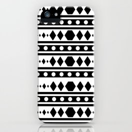 Black Tribal Pattern iPhone Case