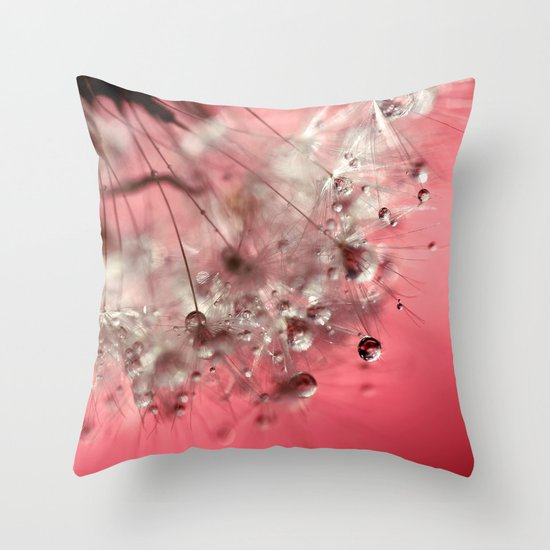 New Year's Pink Champagne Throw Pillow